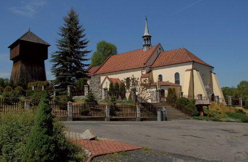 Kościół i dzwonnica w Porębie Spytkowskiej